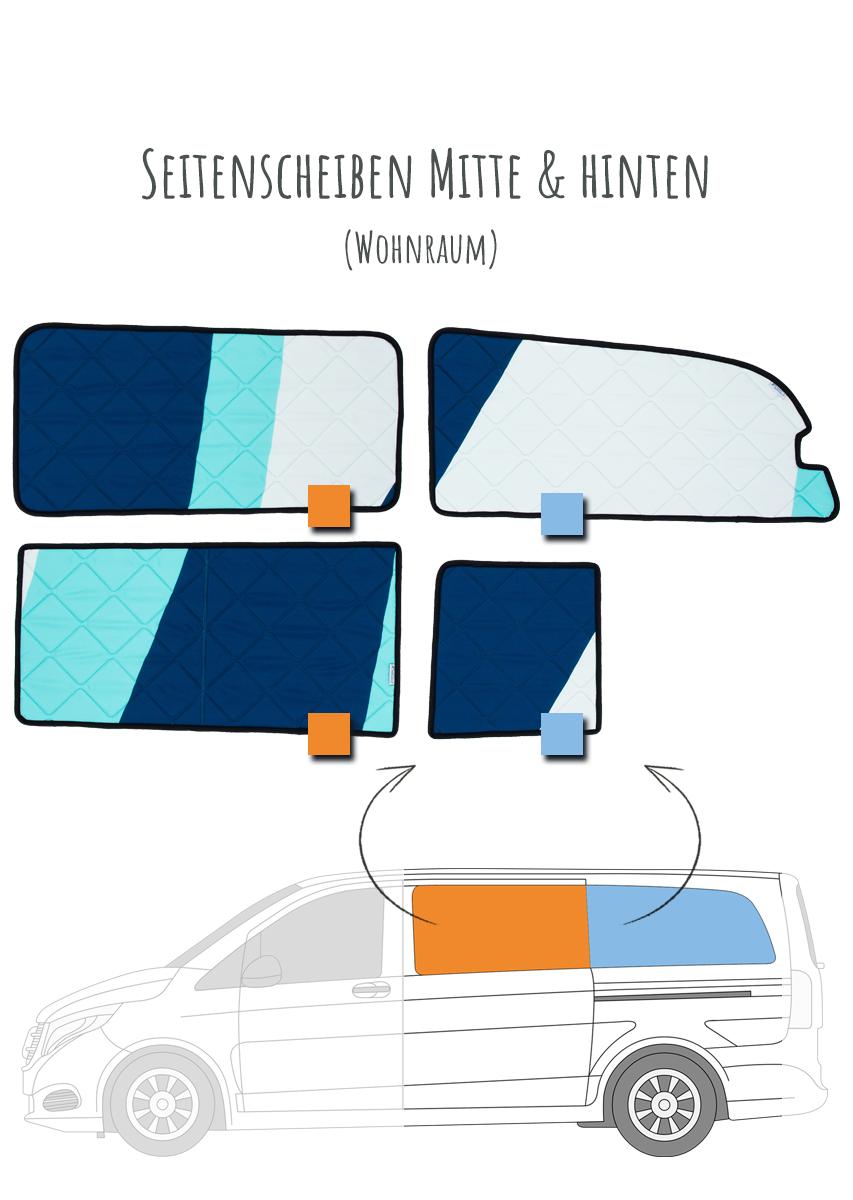 Magnet-Thermomatten Mercedes-Benz V-Klasse Marco Polo Heckscheibe